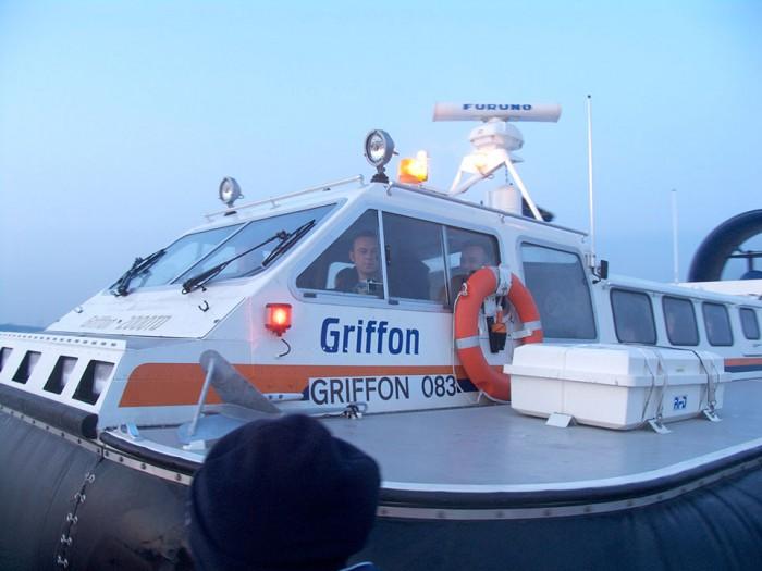 Griffon Hovercraft on the Bramble Bank