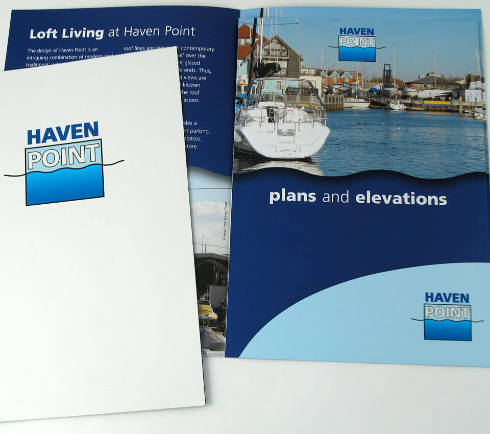 Haven Point Development folder and inserts