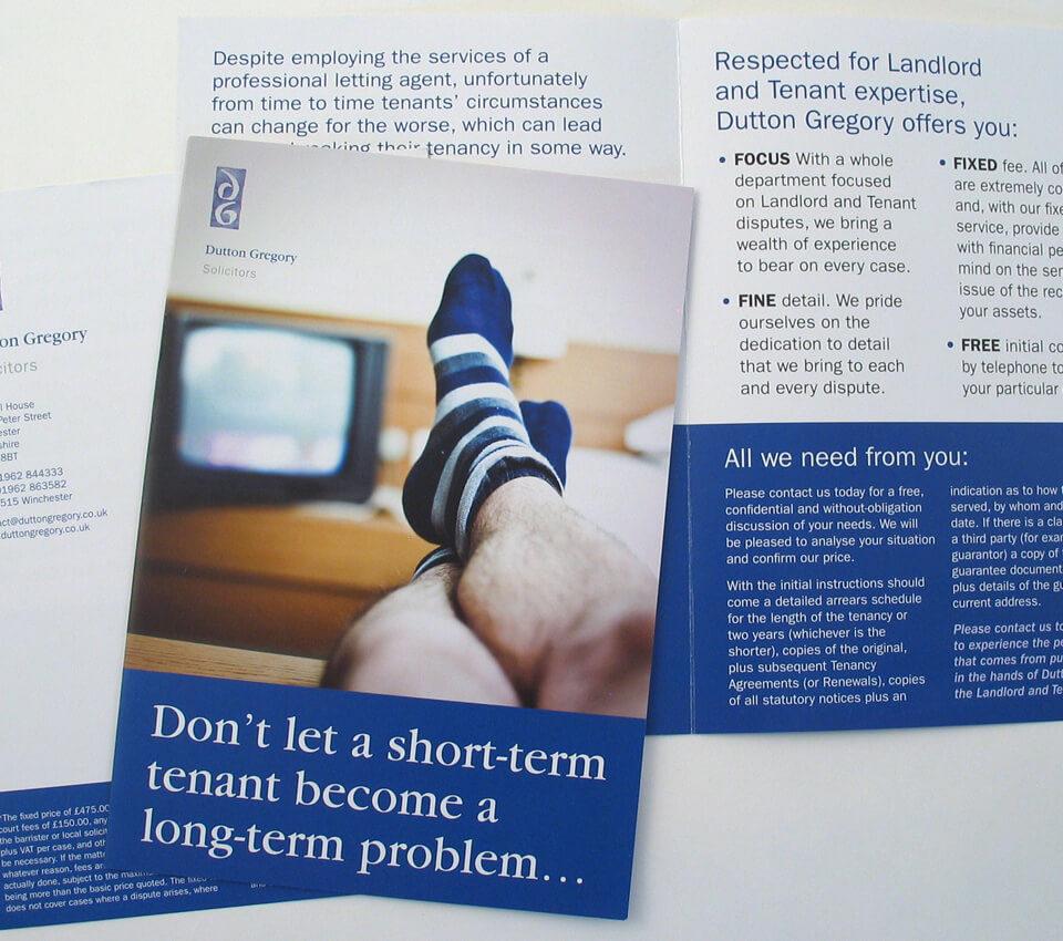 Dutton Gregory Solicitors leaflet design