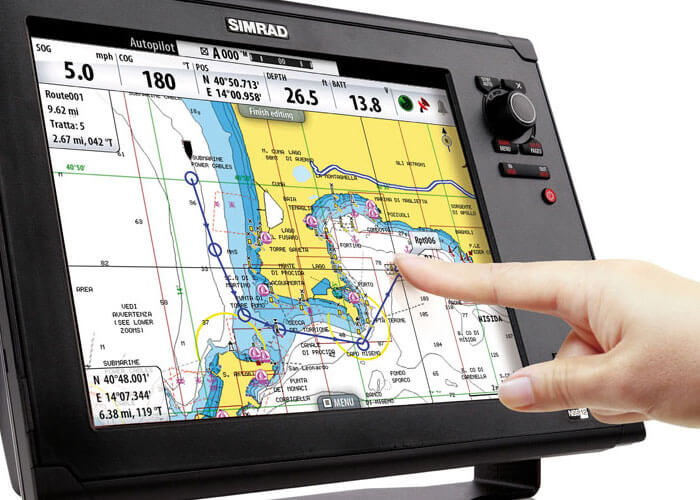 A Touch Simpler ad design for Simrad Yachting