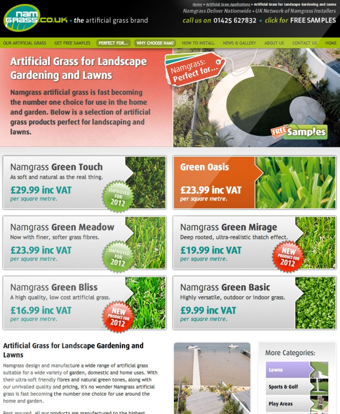 Namgrass Product Listing