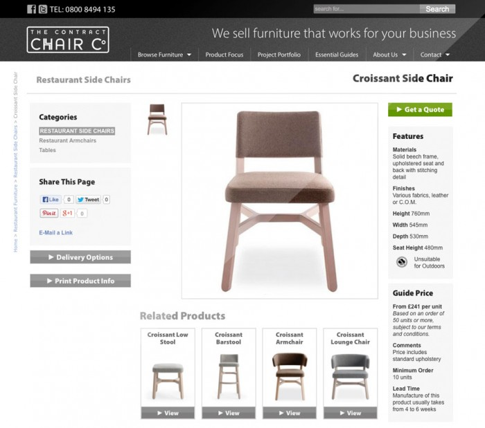 Contract Chair product page