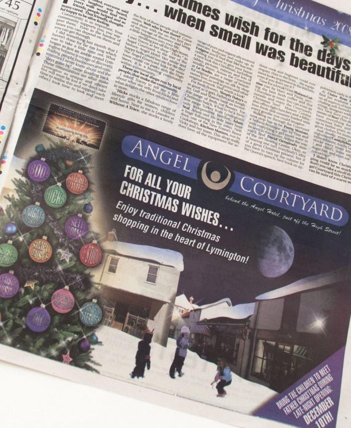 Angel Courtyard Christmas Advert
