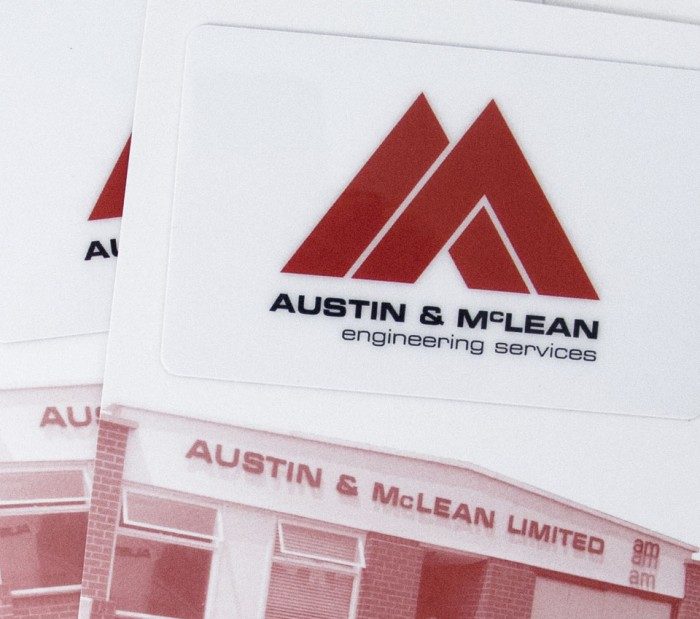 Austin & McLean Logo on COD card