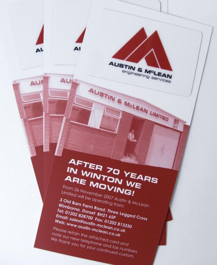 Austin McLean Change of Address Card Detail