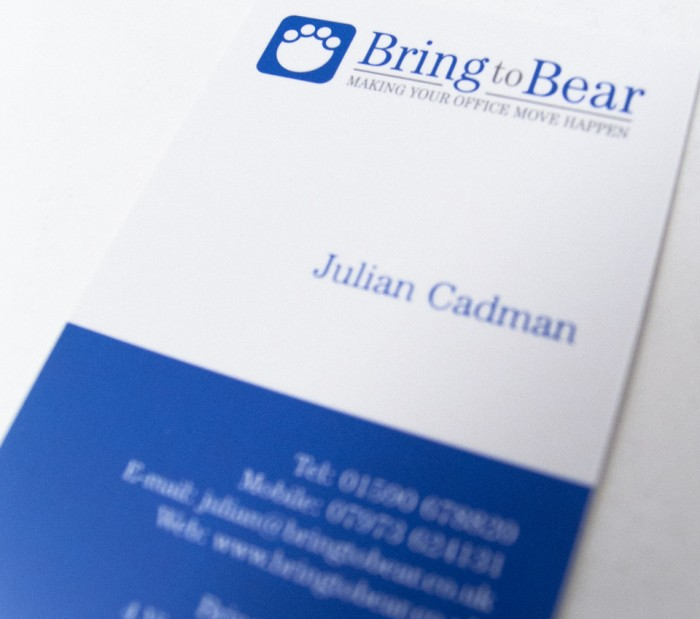 Bring to Bear Business Card