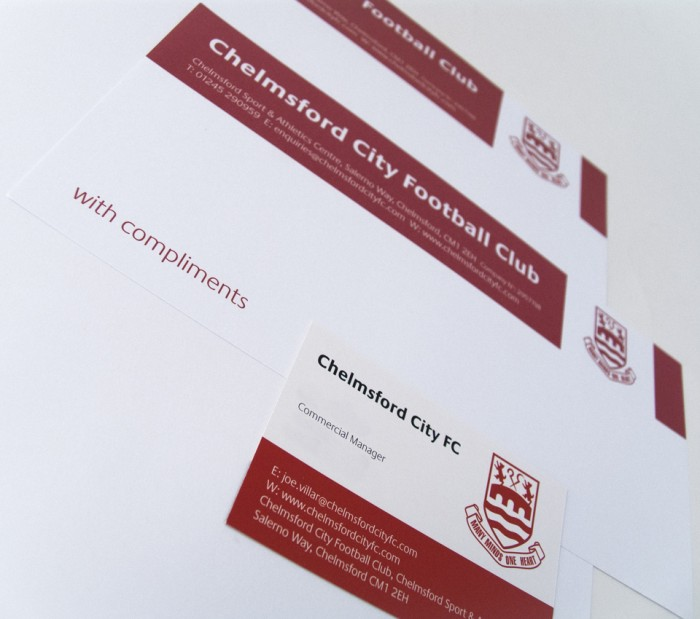 Chelmsford City FC Stationery