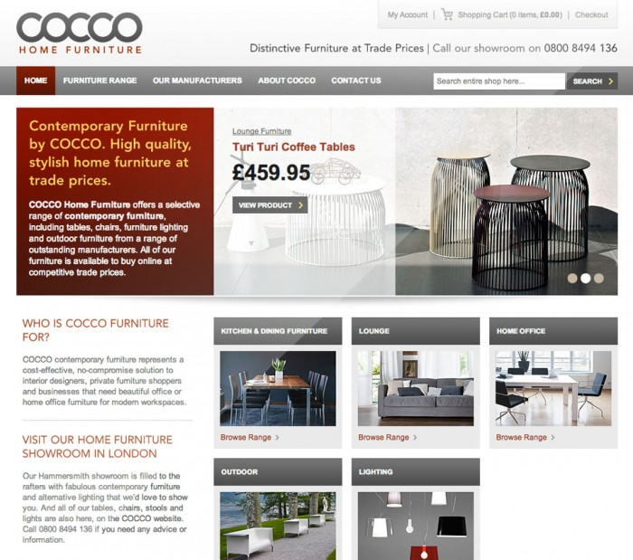 Cocco Furniture Home Page