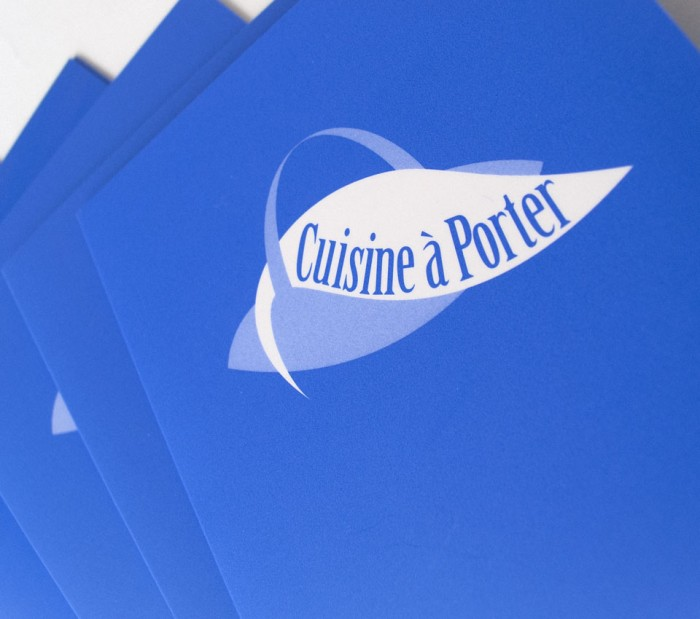 Cuisine à Porter Logo on Menu