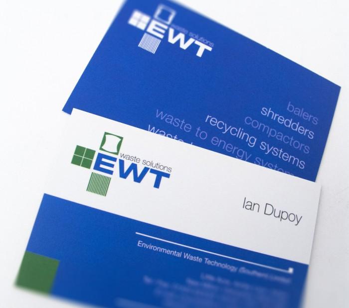 Business Card Design for EWT