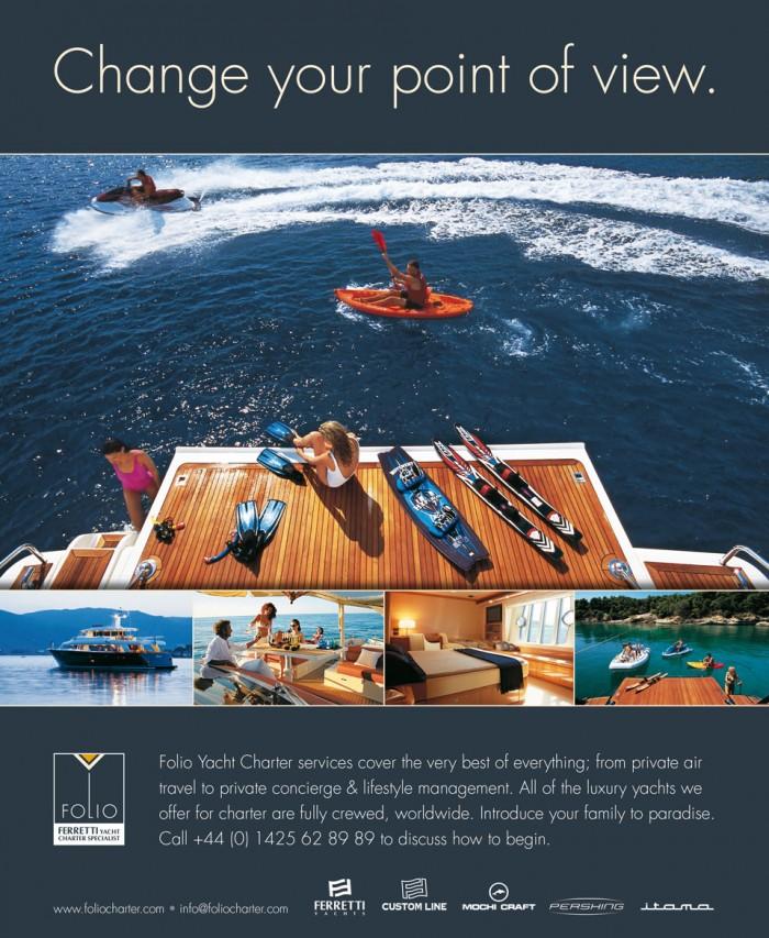 Folio Charters Advert Design