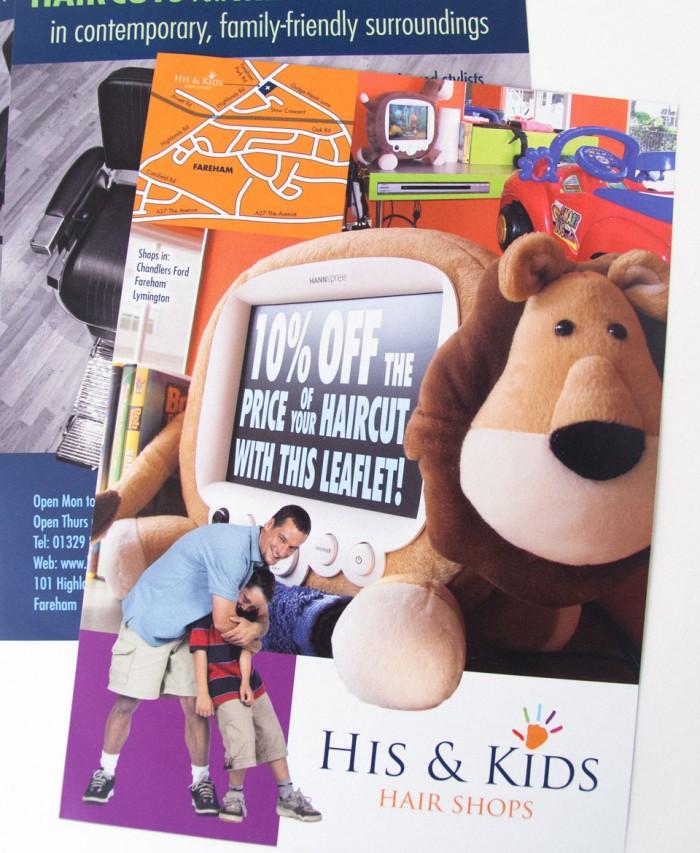 His & Kids Leaflet Design Overview