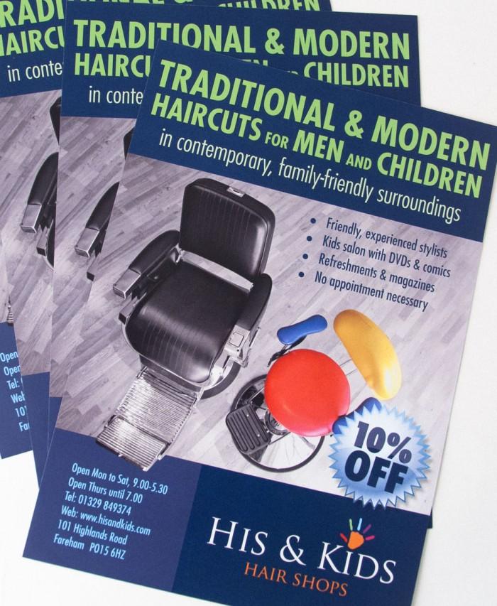 His & Kids Leaflet Design