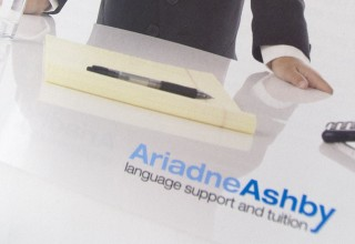 Leaflet Design for Ariadne Ashby