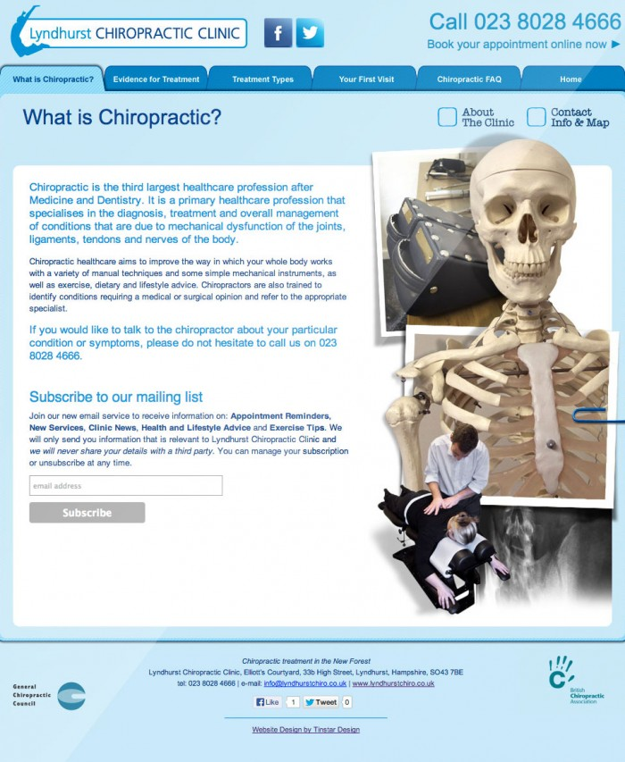 Lyndhurst Chiropractic Clinic Home Page