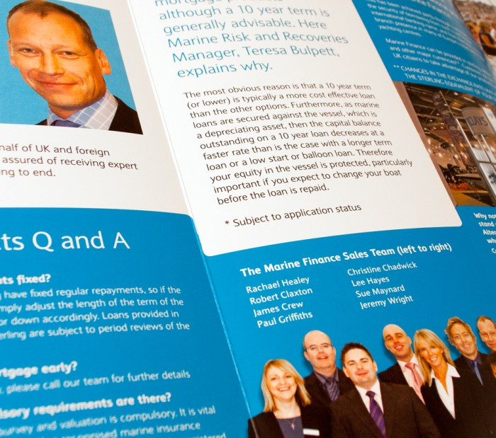 Brochure Design for Barclays Marine Finance
