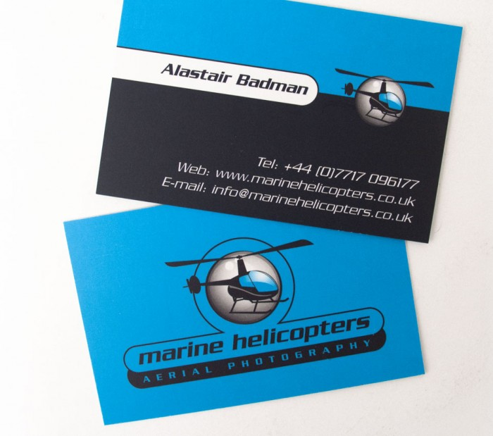 Marine Helicopters Business Cards