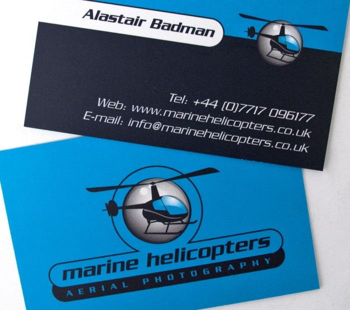 Marine Helicopters Logo on Business Cards