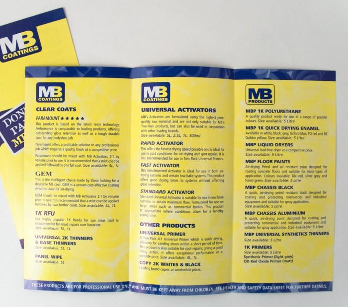 MB Coatings Leaflet Design