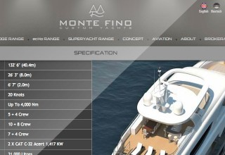 Web Design for Monte Fino Yachts