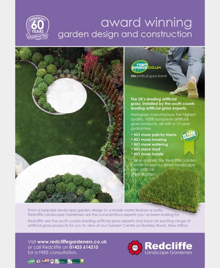 Redcliffe Gardeners Advert Design