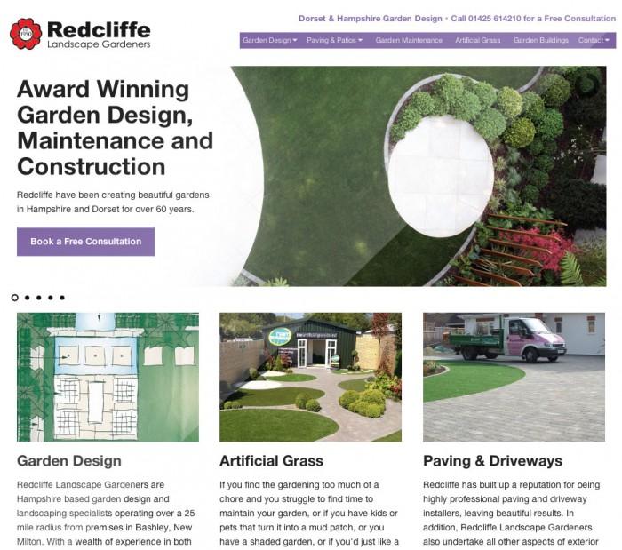 Redcliffe Landscape Garden Design home page