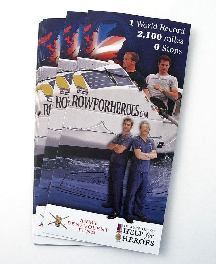 Row for Heroes Leaflet Cover