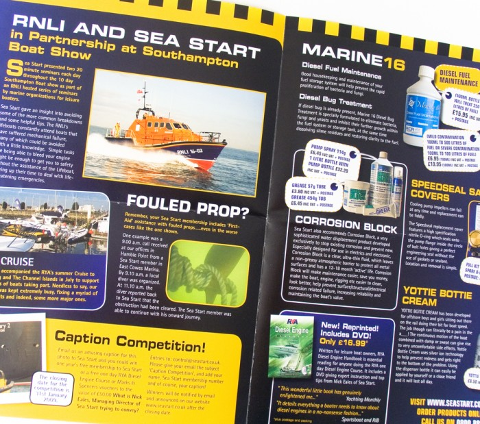 Newsletter Spread for Sea Start
