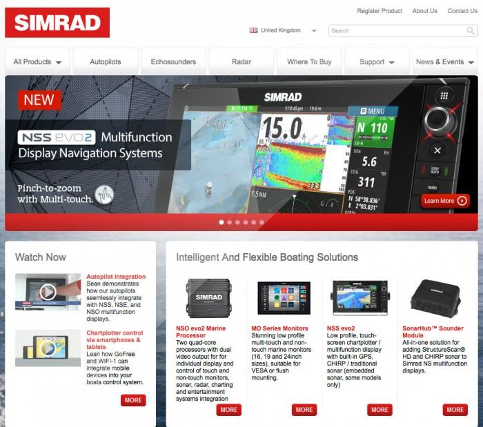 Simrad Home Page