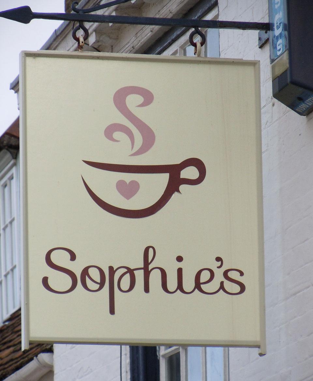 Sophie's Coffee Shop Logo - by Tinstar Design