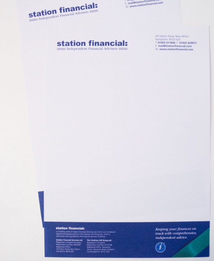 Station Financial Stationery Design