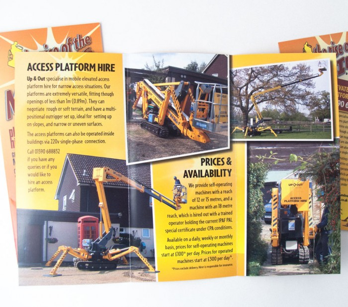 Up & Out Trifold Brochure Design