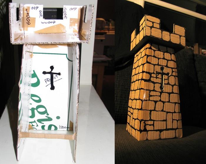Cardboard Model of the Castle