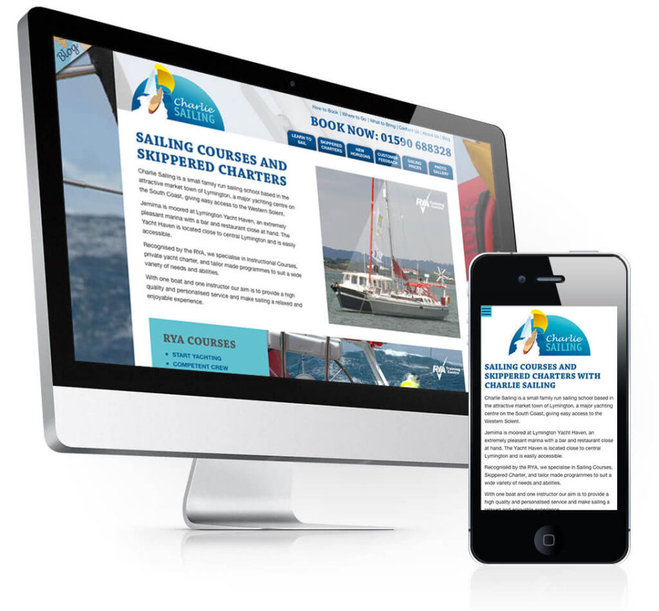 Charlie Sailing Sailing School Web Design