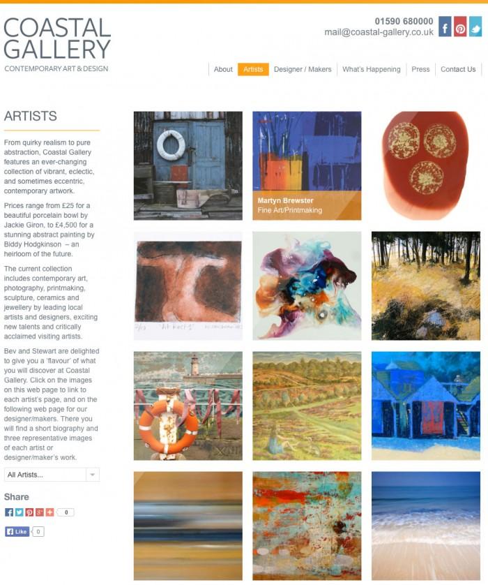 Coastal Gallery Website Design