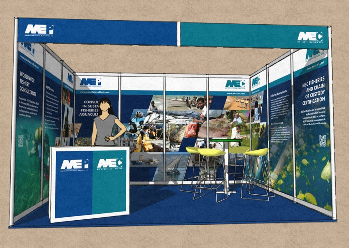 Exhibition Stand Front Rendering