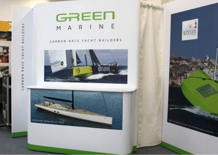 Green Marine exhibition stand front desk