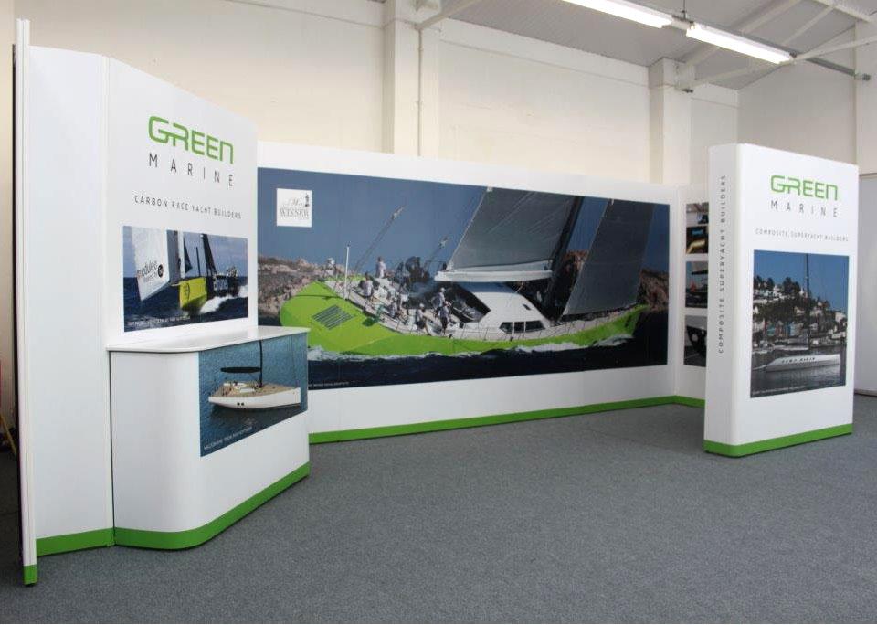 Exhibition Stand Design Hampshire : Green marine exhibition stand design by tinstar