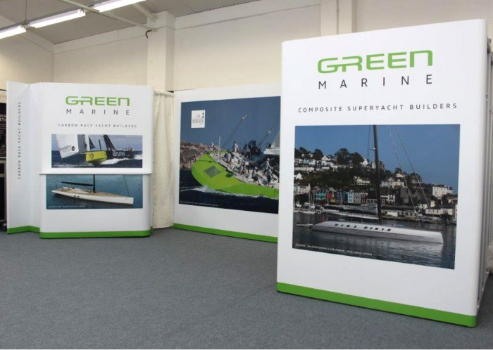 Green Marine exhibition stand front right