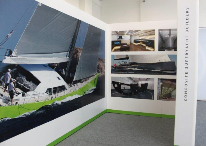 Green Marine exhibition stand inside