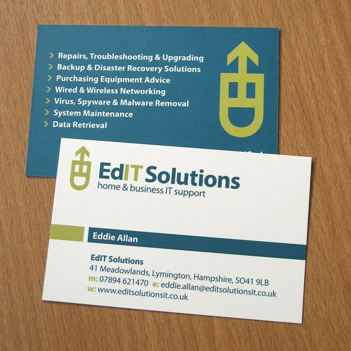 EdIT Solutions Business Cards Design