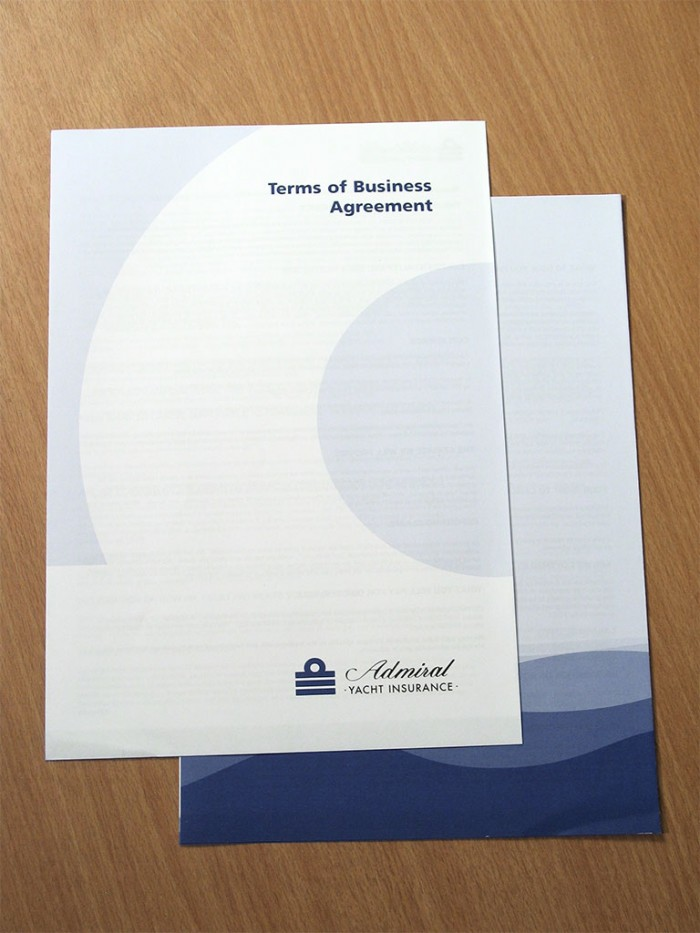 Admiral Yacht Insurance Policy Terms of Business