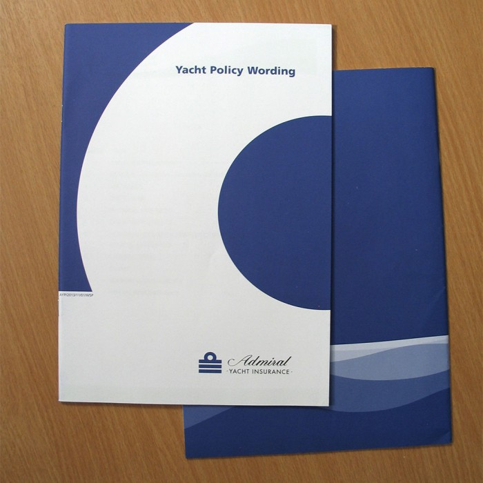 Admiral Yacht Insurance Policy Documents