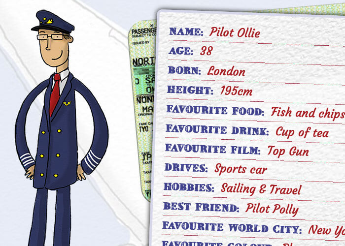 Pilot Ollie profile by Plane Characters
