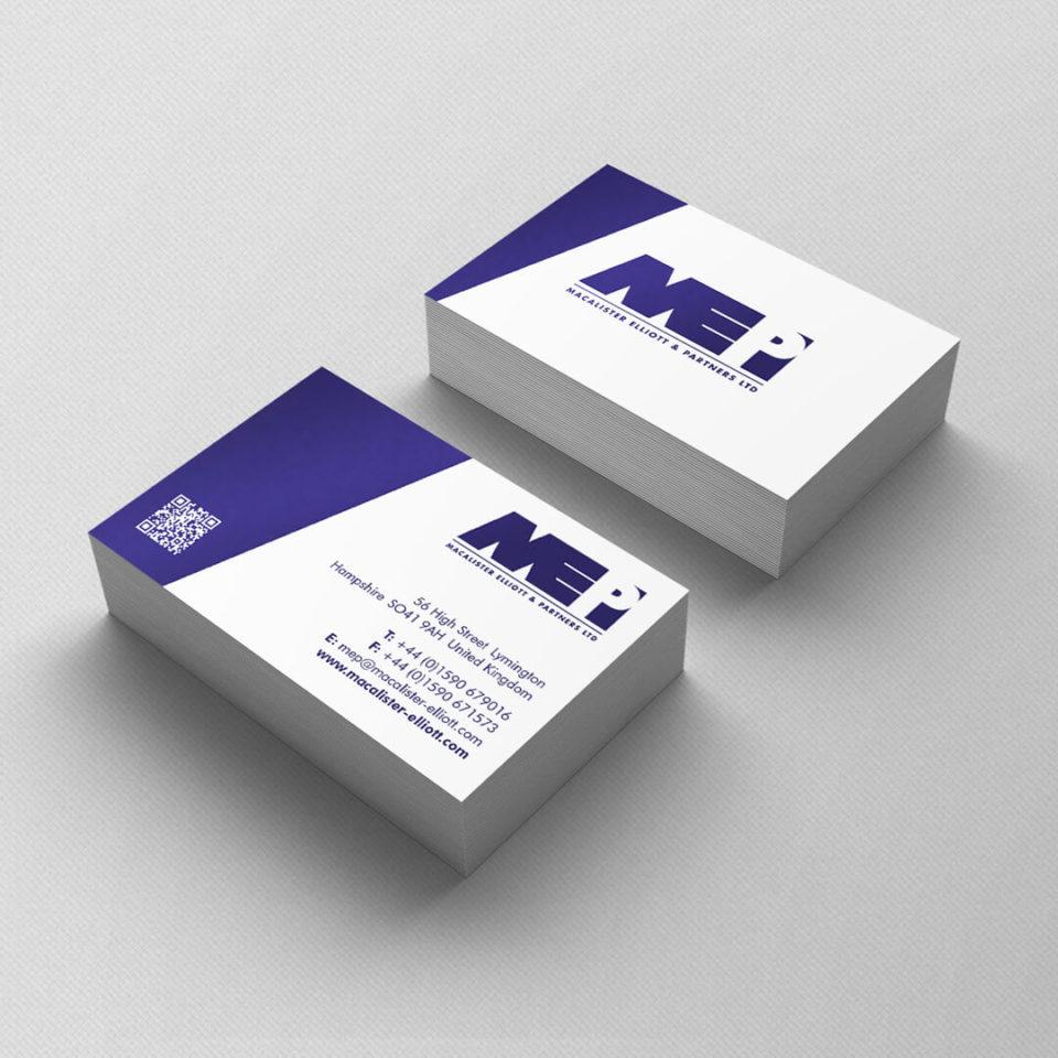 Macalister & Elliott business card design