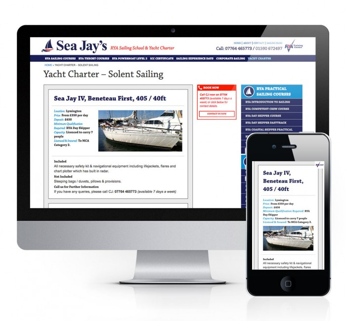 Sea Jay's Solent Sailing School Yacht Charter
