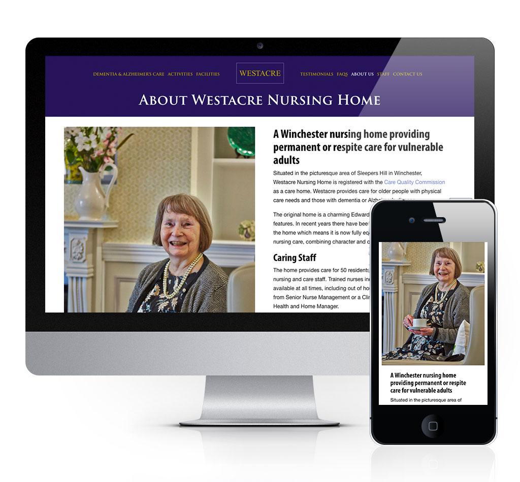 westacre nursing home website by tinstar design susie lyons interiors care homes