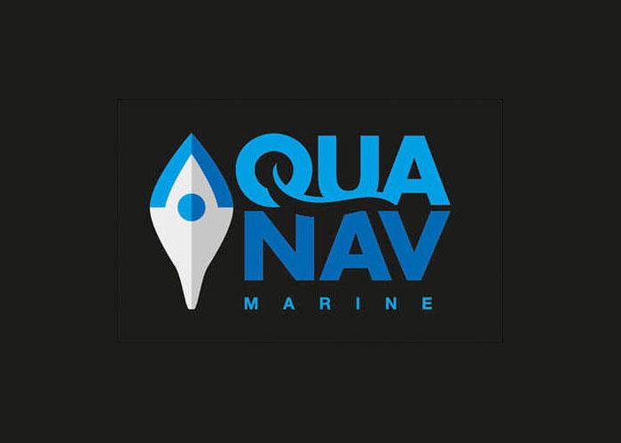 AquaNav Logo Reversed