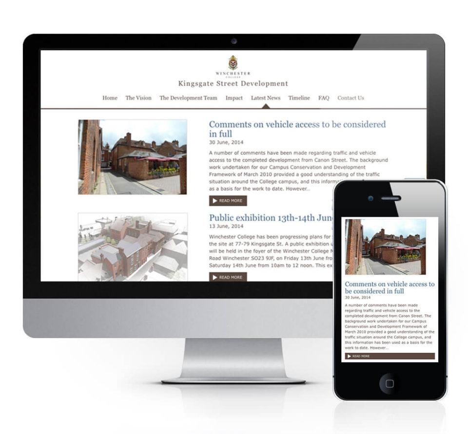 Kingsgate Street Development Website News