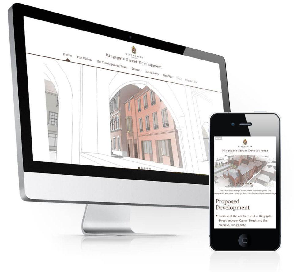 Kingsgate Street Development Website Home Page